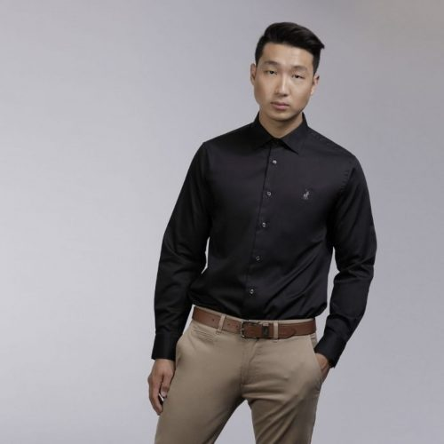 p6002015110400001 mens custom fit greig shirt black2780es 3