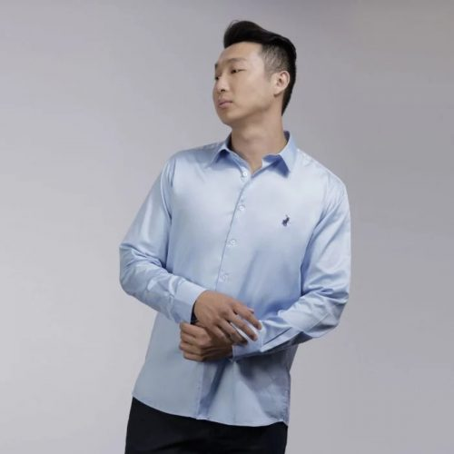 p6002015110400506 mens custom fit greig shirt light blue2730es 5