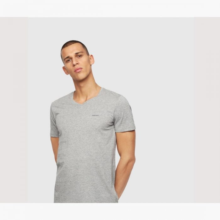 DIESEL UMTEE JAKE V NECK GREY