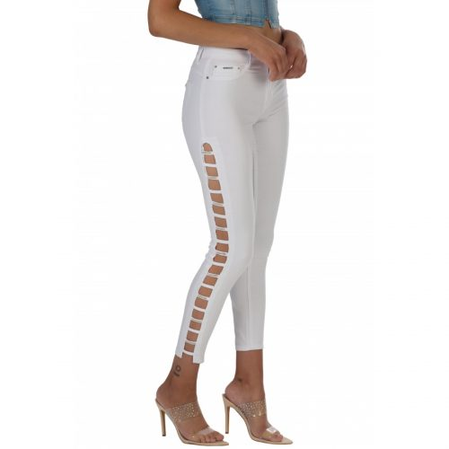 high class mid waist skinny jeans with side detail 1 1