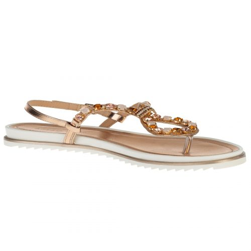 bling all the way jeweled thong sandals
