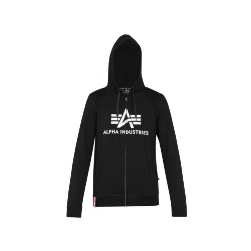 ALPHA INDUSTRIES ALPHA LOGO ZIP HOODY