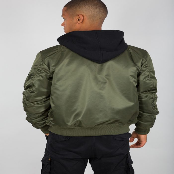 ALPHA INDUSTRIES MA 1 DTEC DARK GREEN