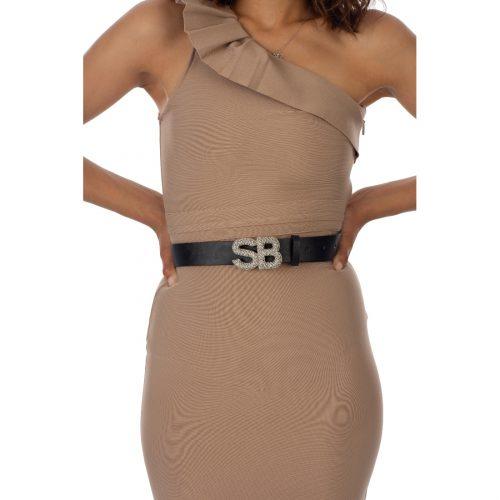 BE26126 Bling belt in BLACK R299 FRNT2 70116126