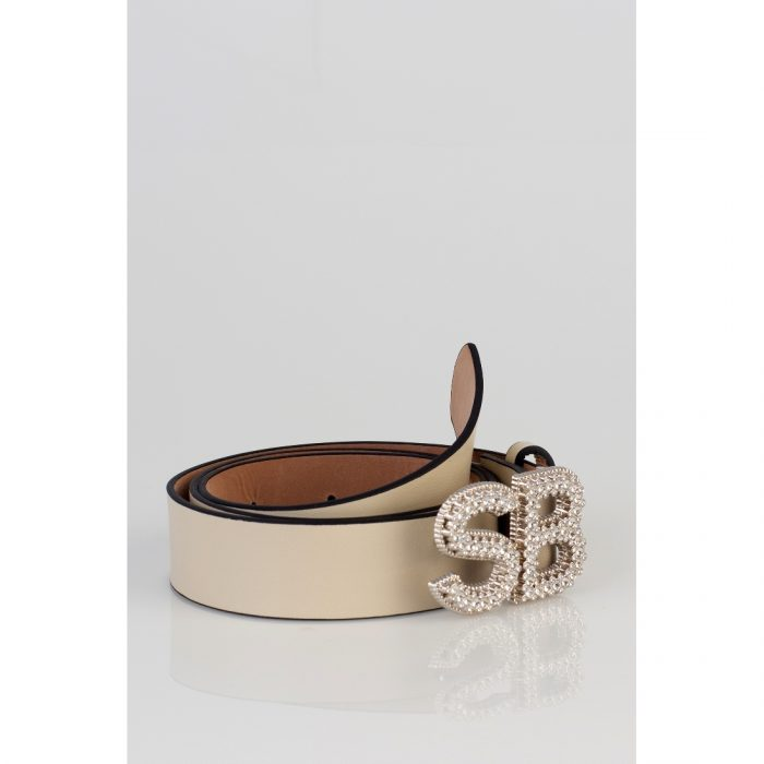 BE26126 Bling belt in cream R299 FRNT 2 69116126