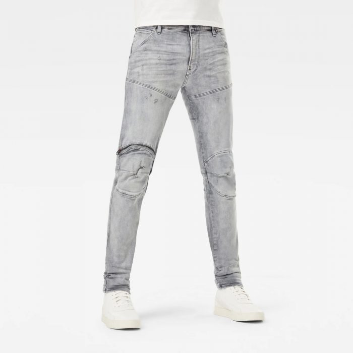 G STAR RAW 5620 3D ZIP KNEE SKINNY JEANS