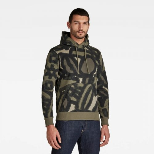 G STAR RAW BRUSH STROKE ALLOVER HOODED 2 3