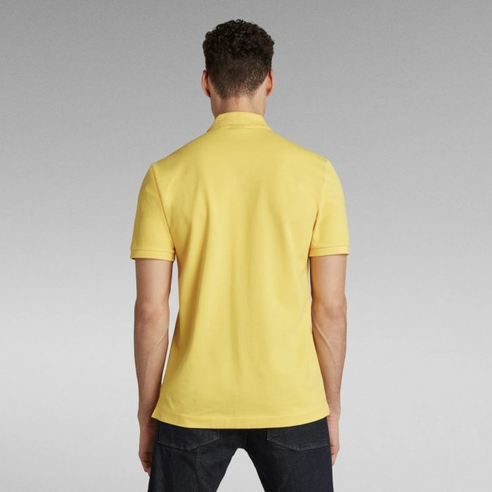 G STAR RAW DUNDA SLIM POLO YELLOW CAB 1