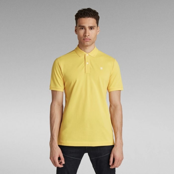 G STAR RAW DUNDA SLIM POLO YELLOW CAB 2