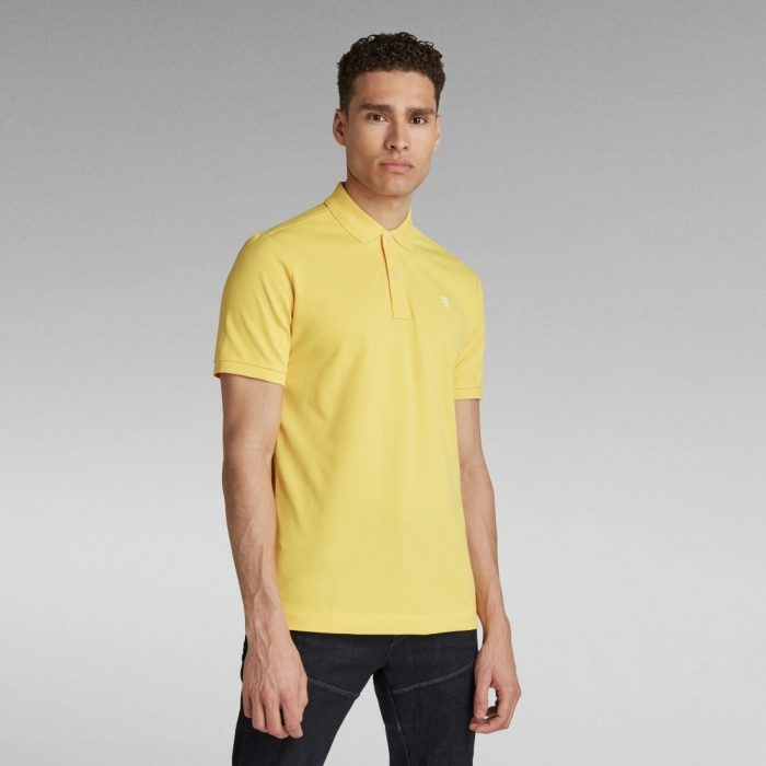 G STAR RAW DUNDA SLIM POLO YELLOW CAB 3