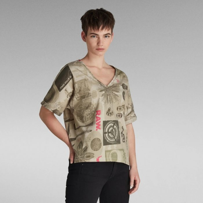 G STAR RAW JOOSA V NECK MUSEUM SAND 2
