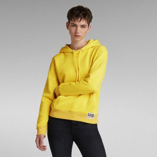 G STAR RAW PREMIUM CORE HOODED SW WMN BRIGHT YELLOW CAB 4