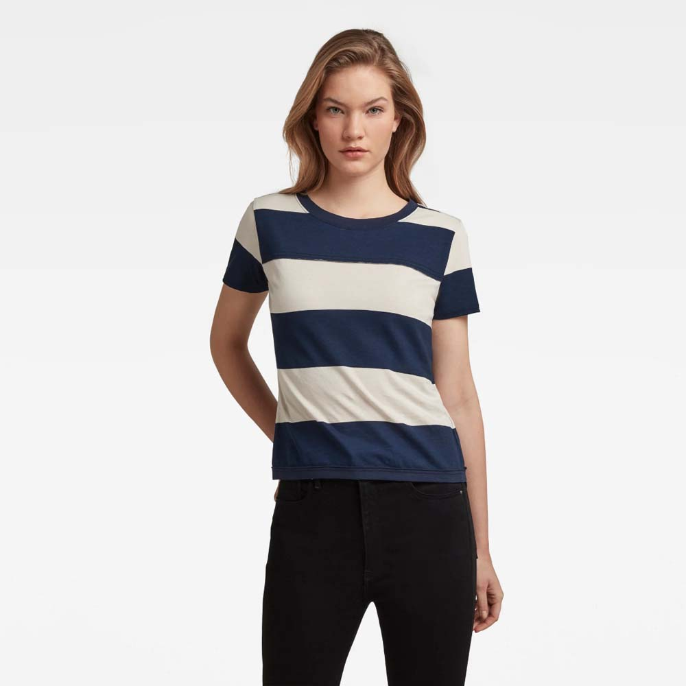 G STAR RAW SLIM FIT WIDE STRIPE TEE