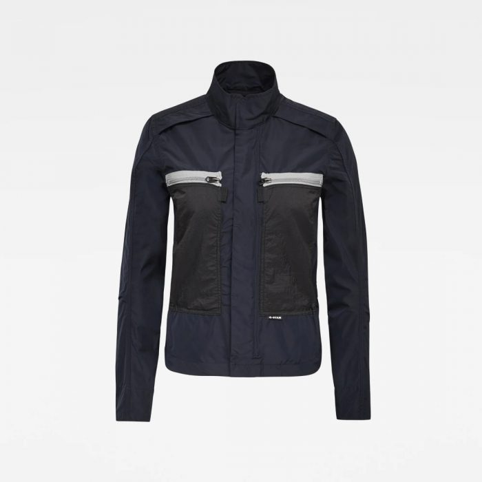 G STAR RAW SLIM OVERSHIRT WMN JKT MAZBLU