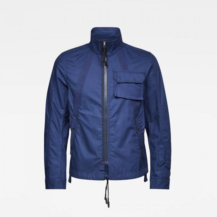 G STAR RAW UTILITY HB TAPE JKT IMPBLUE 4