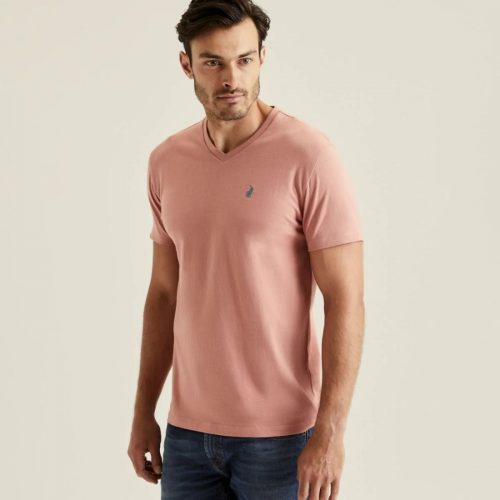 POLO MENS MICHAEL V NECK TEE PINK 4