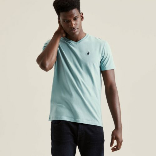 POLO MICHAEL V NECK TEE AQUA 1