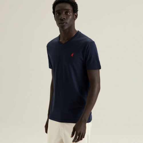 POLO VNECK TEE NAVY 2 1