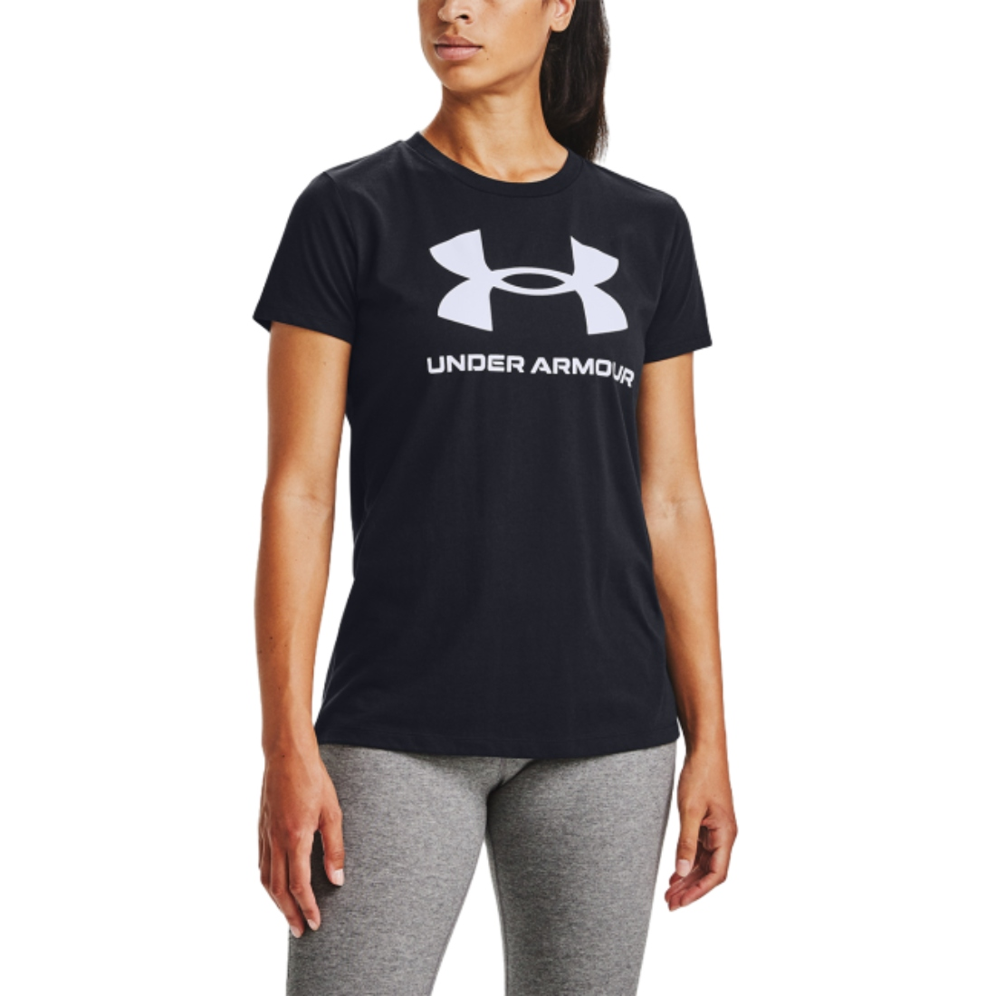 UNDER ARMOUR SPORTSTYLE GRAPHYC TEE BLACK