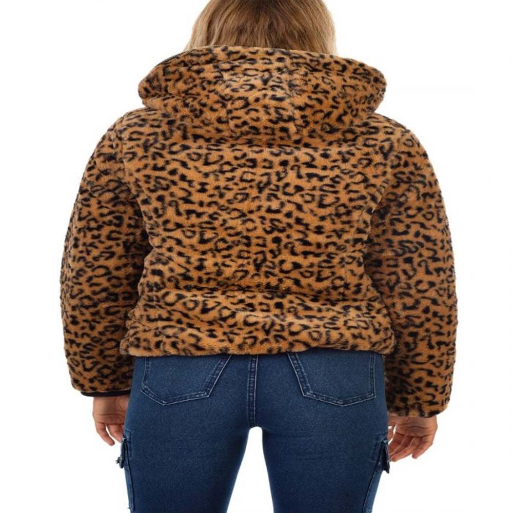 bano reversible animal print and faux fur puffer jacket 1