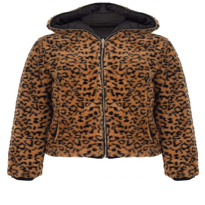 bano reversible animal print and faux fur puffer jacket 4