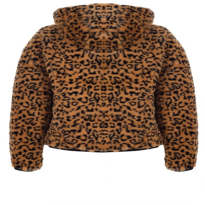 bano reversible animal print and faux fur puffer jacket 5