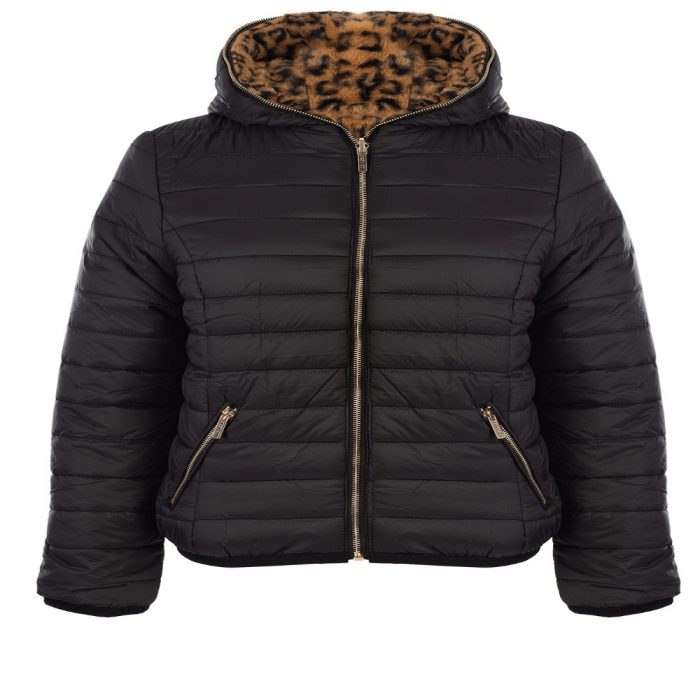 bano reversible animal print and faux fur puffer jacket 6