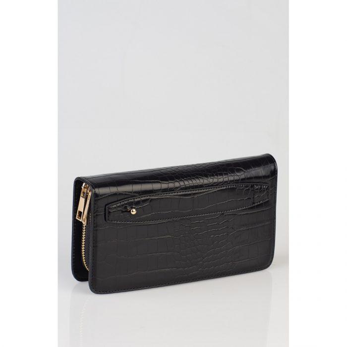 croco wallet in black 1
