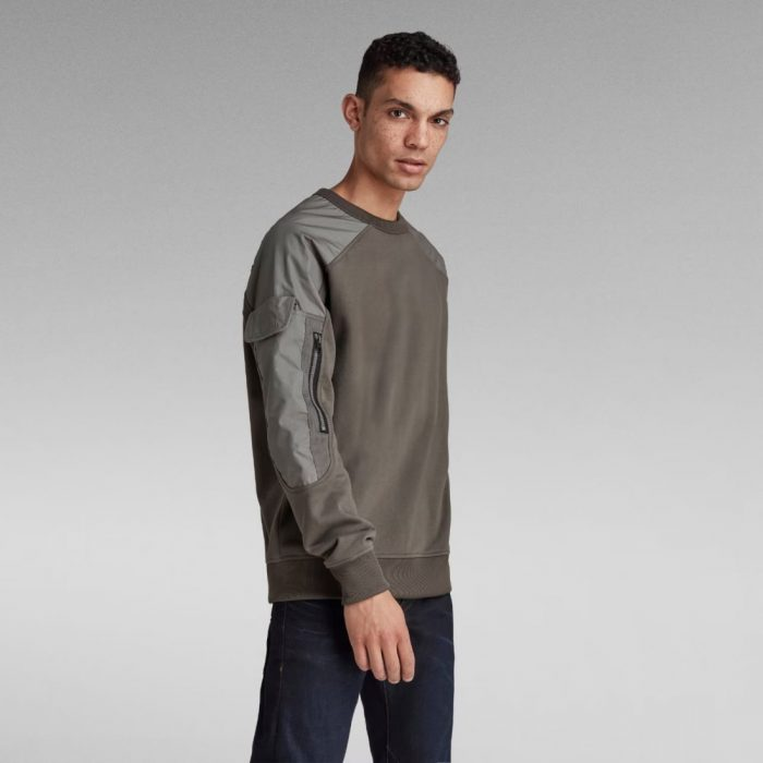 G STAR RAW CONTAINER SWEATER GS GREY 1