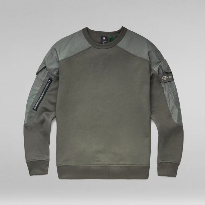 G STAR RAW CONTAINER SWEATER GS GREY 3