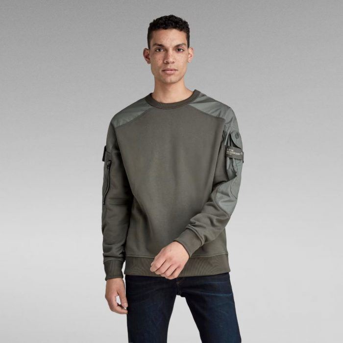 G STAR RAW CONTAINER SWEATER GS GREY