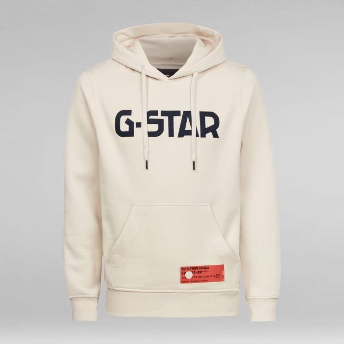 G STAR RAW HDD HOODIE LS WHITEBAIT 3