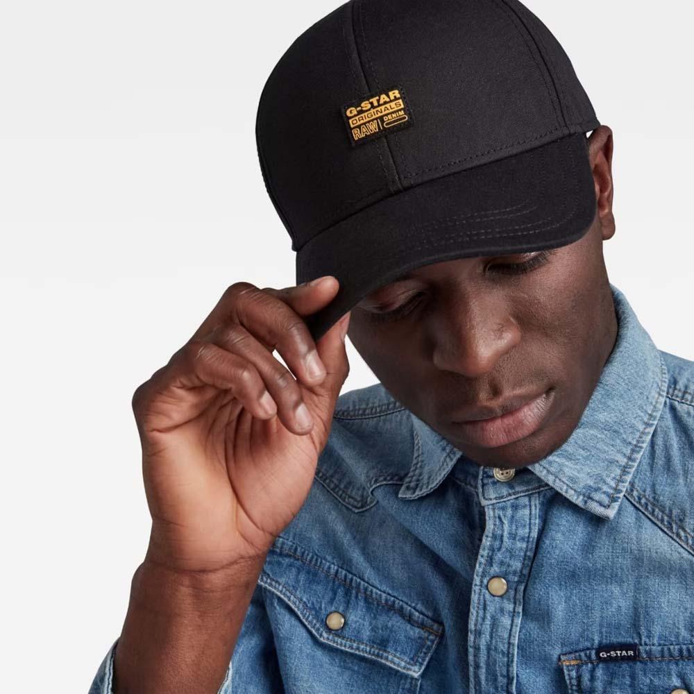 G STAR RAW ORIGINALS BASEBALL CAP DARK BLACK 2