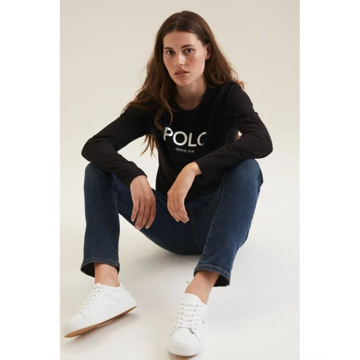 POLO LDS RELAXED MIRROR TEE BLACK