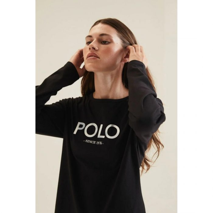 POLO LDS RELAXED MIRROR TEE BLACK.webp3