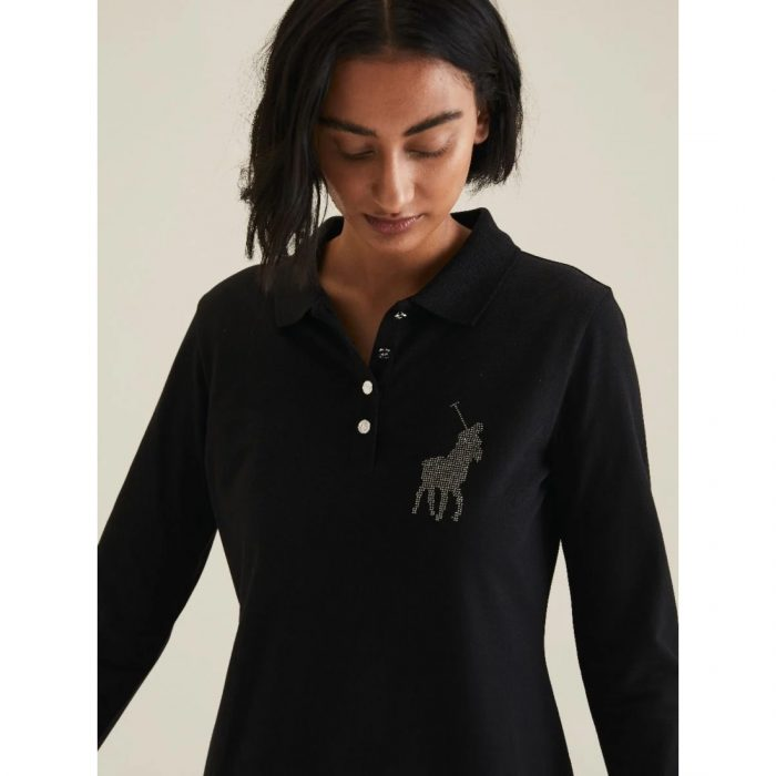 POLO RENNI EXCLUSIVE LDS RHINESTONE GOLFER DRESS BLACK.webp2