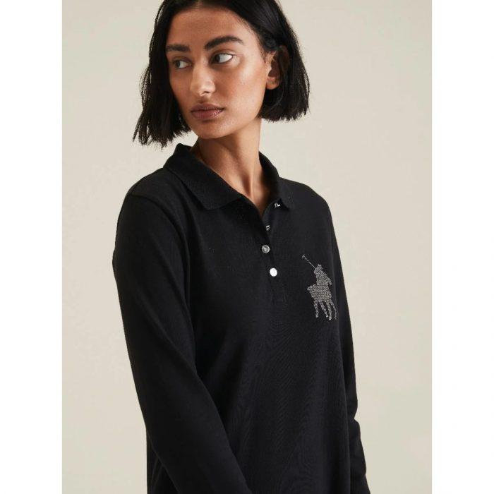 POLO RENNI EXCLUSIVE LDS RHINESTONE GOLFER DRESS BLACK.webp3