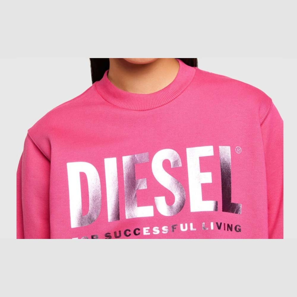 DIESEL F ANG SWEATER HOT PINK