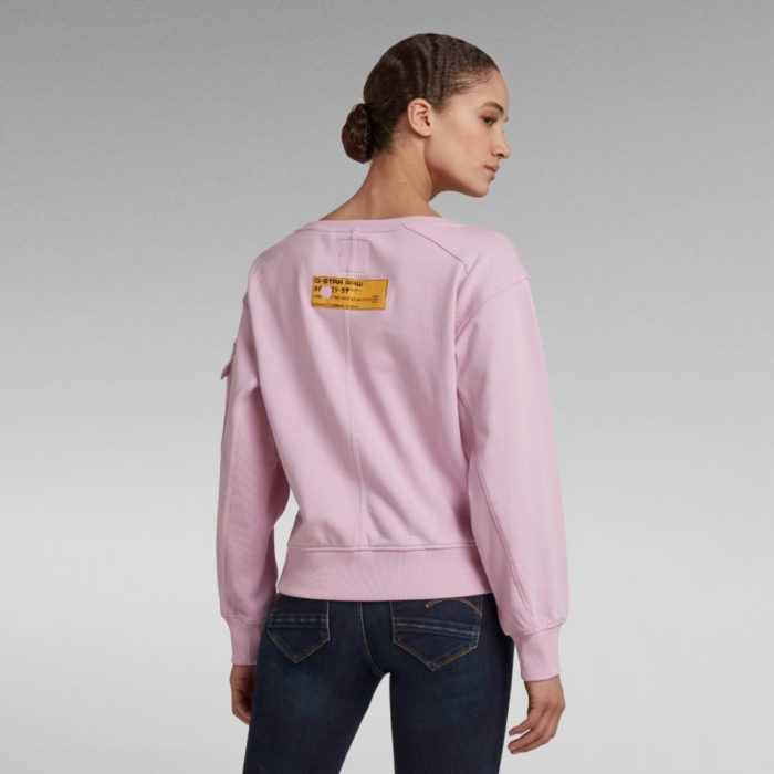 G STAR RAW BOAT NECK SWEATER LAVENDER PINK 1
