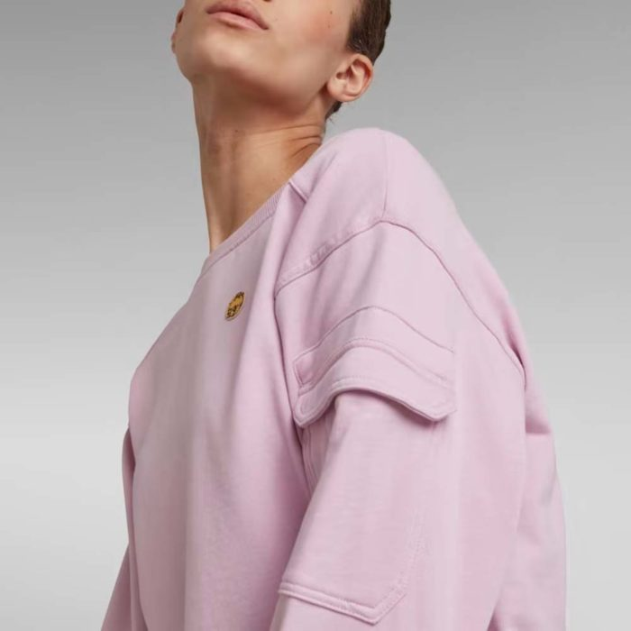 G STAR RAW BOAT NECK SWEATER LAVENDER PINK 2