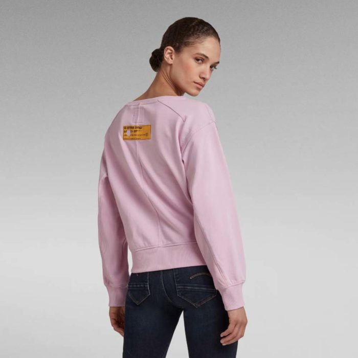 G STAR RAW BOAT NECK SWEATER LAVENDER PINK 4