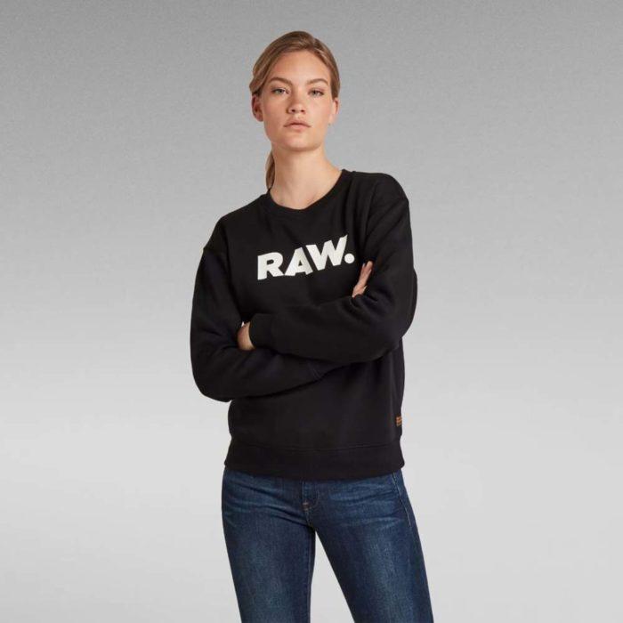 G STAR RAW PREMIUM CORE RAW SWEATER BLACK 2