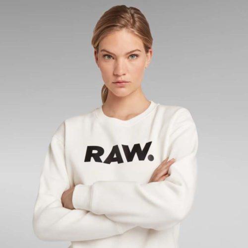 G STAR RAW PREMIUM CORE RAW SWEATER WHITE 2