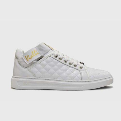 VIALLI Amalfi Leather Sneakers White 4