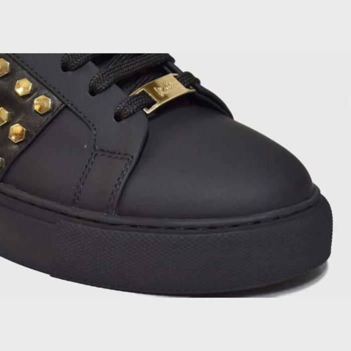 VIALLI Modena Leather Sneakers Matte Black 1