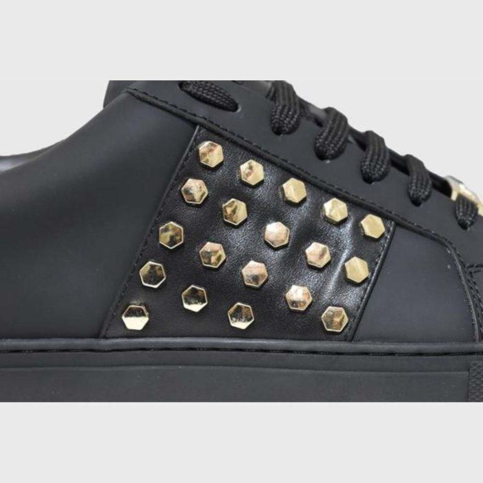 VIALLI Modena Leather Sneakers Matte Black 2