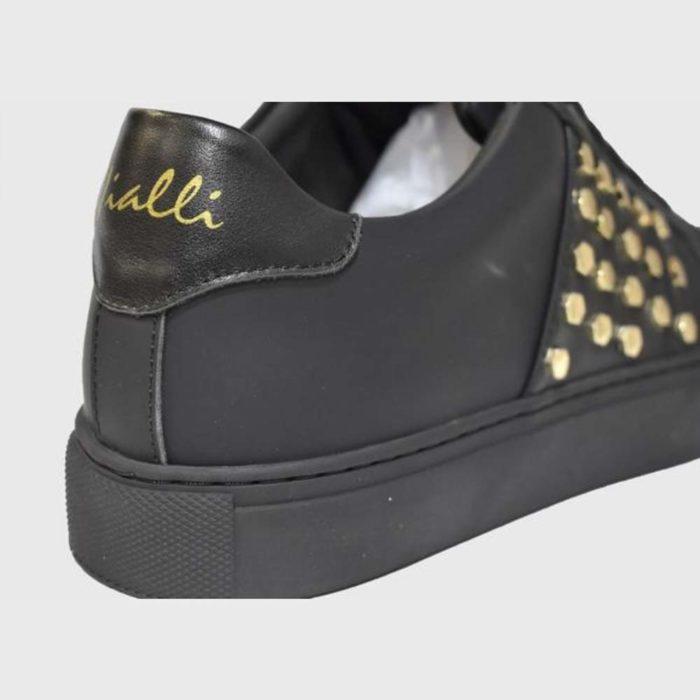 VIALLI Modena Leather Sneakers Matte Black 4