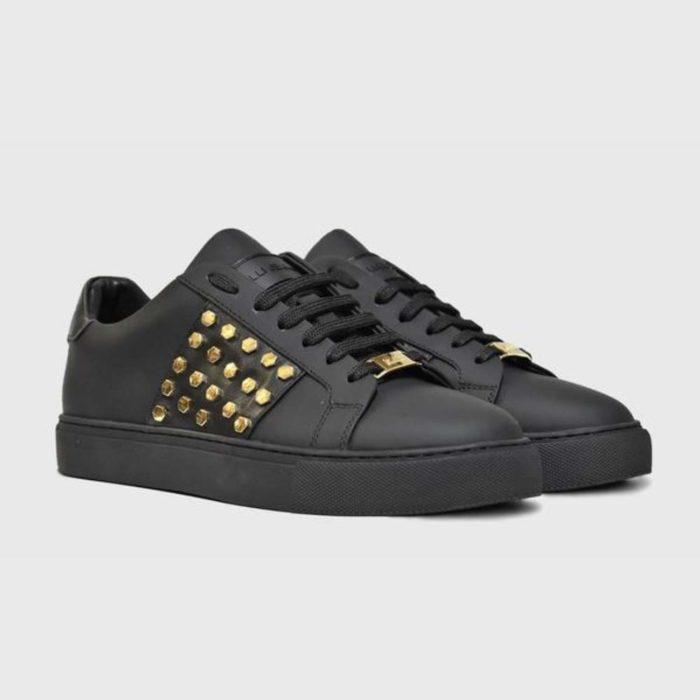 VIALLI Modena Leather Sneakers Matte Black 5
