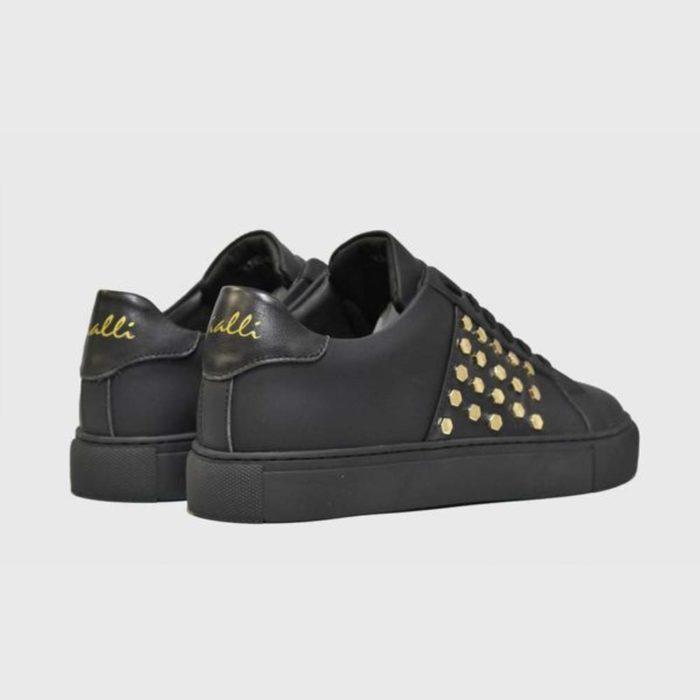 VIALLI Modena Leather Sneakers Matte Black 6