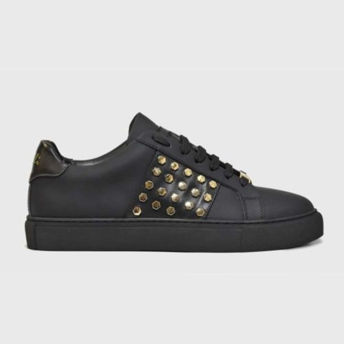VIALLI Modena Leather Sneakers Matte Black 7